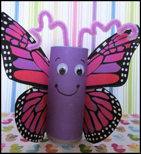 Toilet Paper Roll Butterfly Craft | KraftyKid Empty Toilet Paper Roll Png