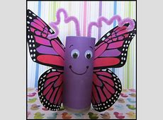 Toilet Paper Roll Butterfly Craft | KraftyKid Empty Toilet Paper Roll Png