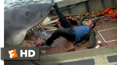 jaws fishing boat scene jaws 1975 quint is devoured scene 9 10 movieclips