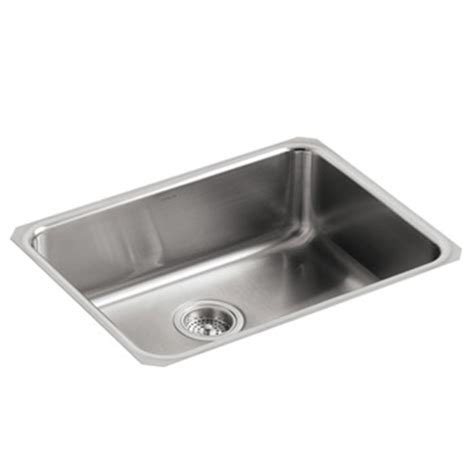 small squared undercounter stainless steel sink kohler k 3332 na undertone squared basin undercounter