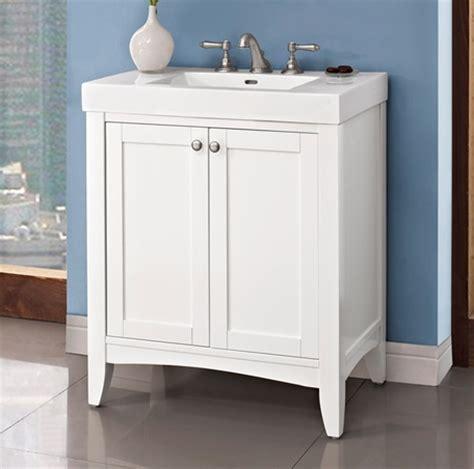 White Shaker Bathroom Vanity by Shaker Americana 30x18 Quot Vanity Polar White Fairmont