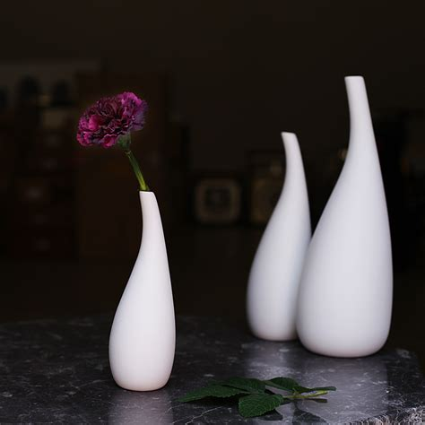White Flower Vases Wholesale by Aliexpress Buy 3 Pcs Modern Porcelain Flower Vase