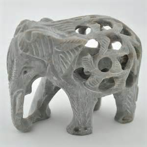 Soapstone Elephant nesting elephant soapstone sculpture at mexicali blues