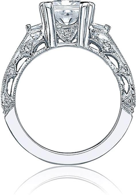tacori engagement ring for an asscher or princess