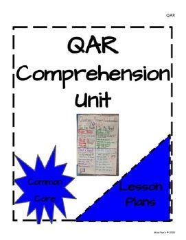 qar comprehension unit lesson plan bundle comprehension