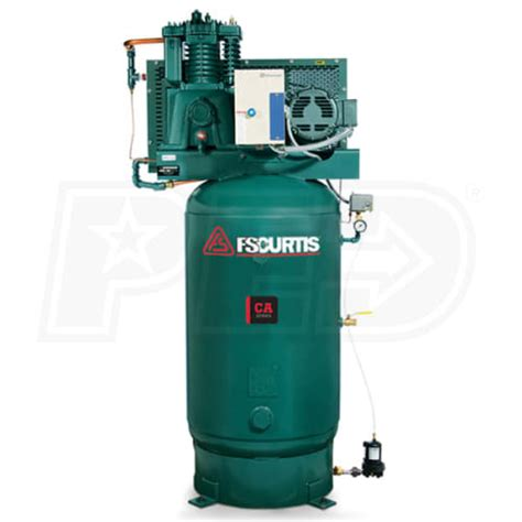 fs curtis 07e57v8up a4d ca7 5 7 5 hp 80 gallon ultra two stage air compressor 460v 3 phase