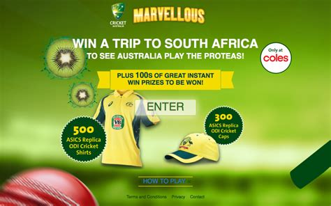 Instant Win Competitions Australia - cricket australia coles kiwi fruit win instant prizes shi australian