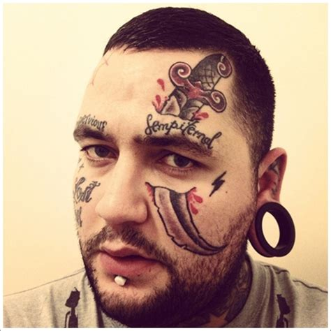 tattoo on face 40 jaw dropping tattoos that will shock you