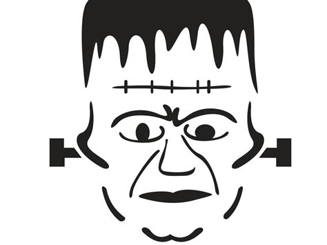 frankenstein pumpkin carving stencil hgtv