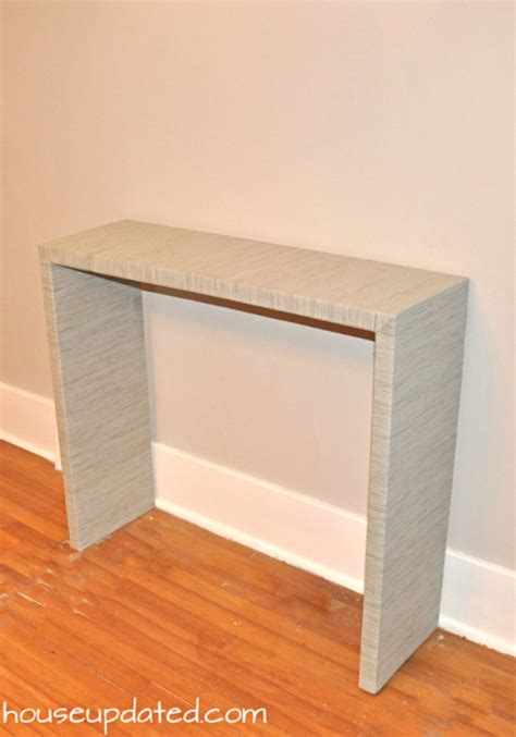 Diy Console Table Parsons Style House Updated Diy Parsons Desk