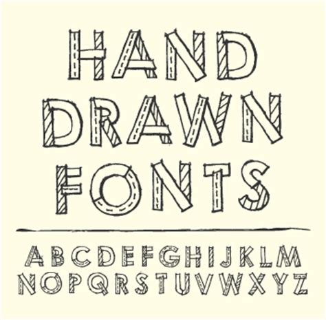 hand drawn fonts creative vector 04 vector font free
