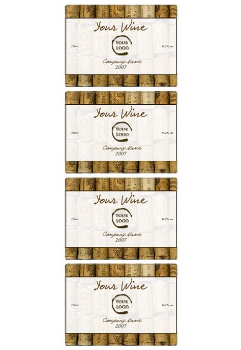 wine bottle tags template wine label template personilize your own wine labels
