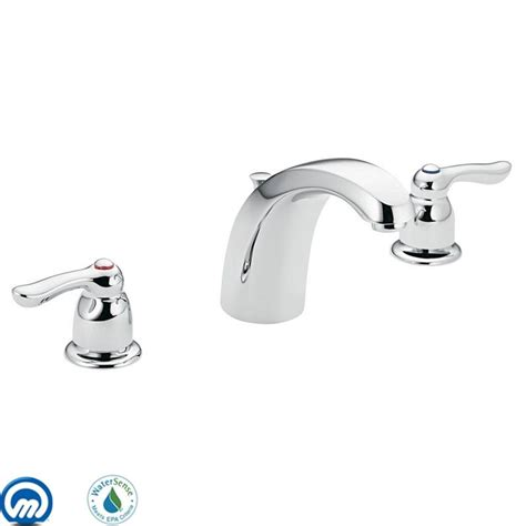 moen 4945 chrome double handle widespread bathroom faucet
