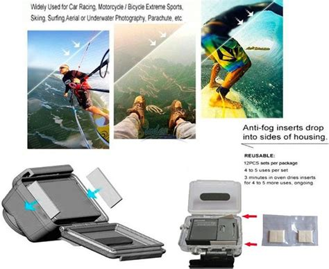 Gopro Xiaomi Di Indonesia anti fog drying filter insert for waterproof xiaomi