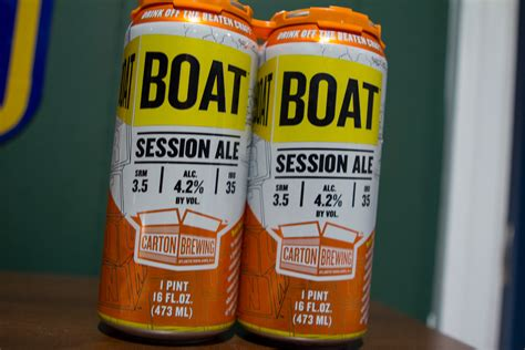 on a boat beer carton boat beer in cans raging yeti