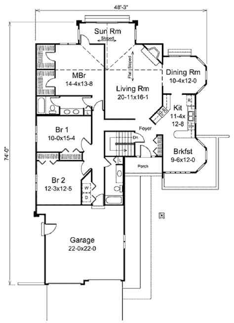 house plan 1761 square feet 57 ft ranch style house plan 3 beds 2 baths 1907 sq ft plan