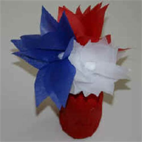 Tissue Paper Flowers In Vase by Fourth Of July Tissue Paper Flowers And Juice Jar Vase