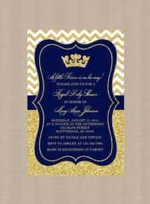 prince baby shower invitation royal blue gold baby shower invitation prince gold