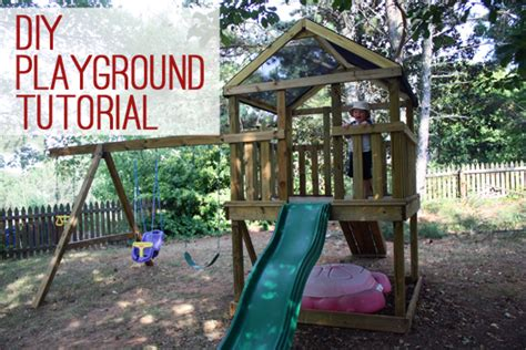 how to build a backyard playground how to build a diy wooden playground playset