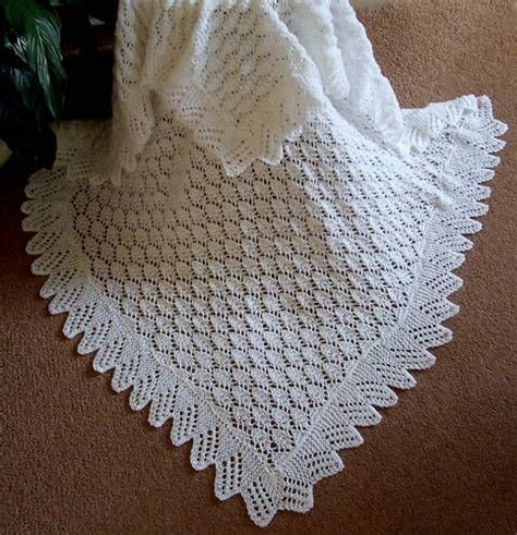 Knitting Patterns For Babies Shawls Vintage Shawl Baby