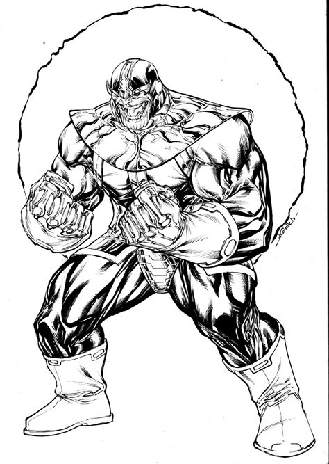 marvel thanos coloring pages thanos sept8th2014 by spiderguile on deviantart