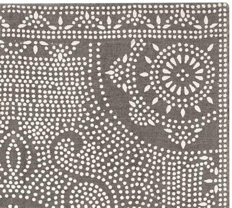 gray indoor outdoor rug shibori dot printed indoor outdoor rug gray pottery barn