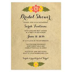 rustic floral bridal shower invitation crafty pie press