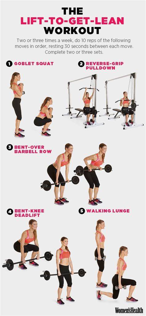 workout routines 187 health and fitness training 5 weight lifting moves that ll help you drop a size or