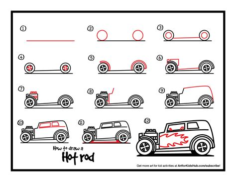 how to draw a rod step by step cars draw cars how to draw a rod jpg 1 650 215 1 275 pixels for