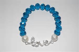 Teal crystal beaded silver stardust beads silver rhinestone love