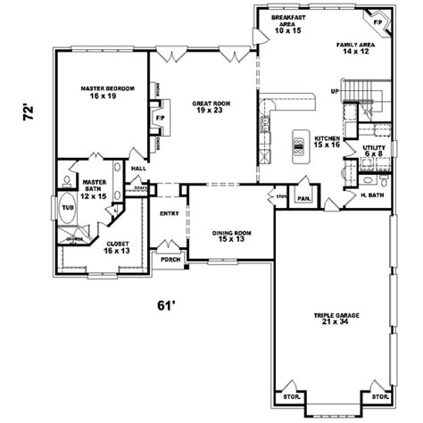 monster house plans traditional style house plans 3491 square foot home 2