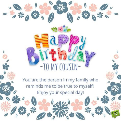 Happy Birthday To A Special Cousin by Happy Birthday Cousin