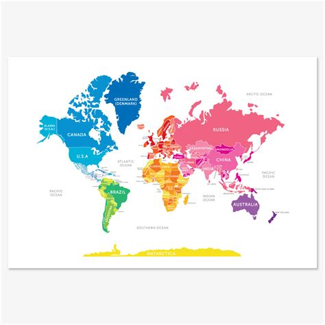cool maps bright world map 30 5 really cool world maps to show the world popsugar