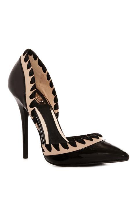 Heels Black Ribbon limited high heel blush black ribbon fringe