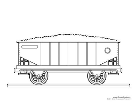 Coloring Pictures Of Train Cars | train coal car coloring page art crafts for kids