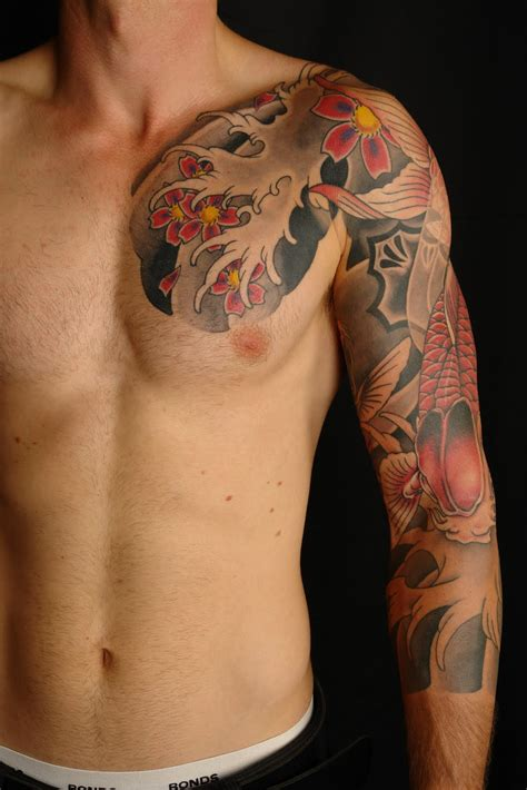 japanese chest tattoos for men 20 japanese sleeve tattoos design ideas for and