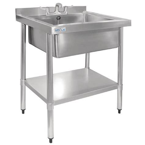 stainless steel wash sink vogue stainless steel midi pot wash sink with undershelf