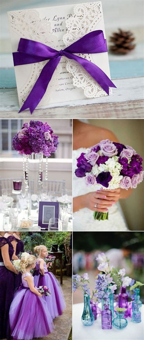elegant purple wedding colors purple wedding ideas