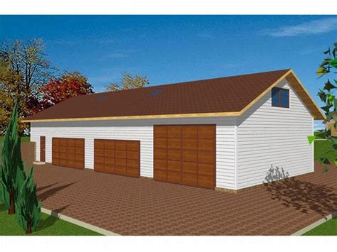 4 Car Garage Plans by Garage Plans With Flex Space Four Car Garage Plan With