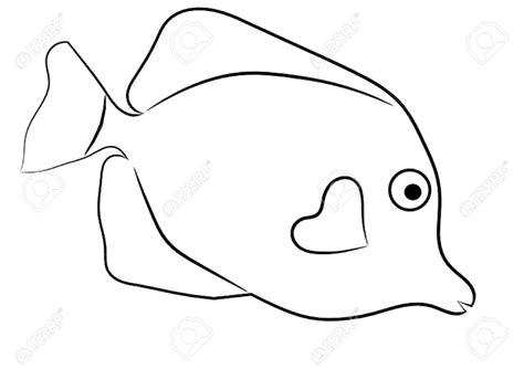 yellow tang coloring page fish cliparts