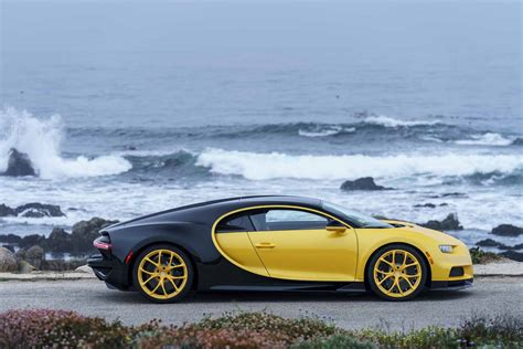 yellow bugatti chiron first bugatti chiron delivered to u s owner has black