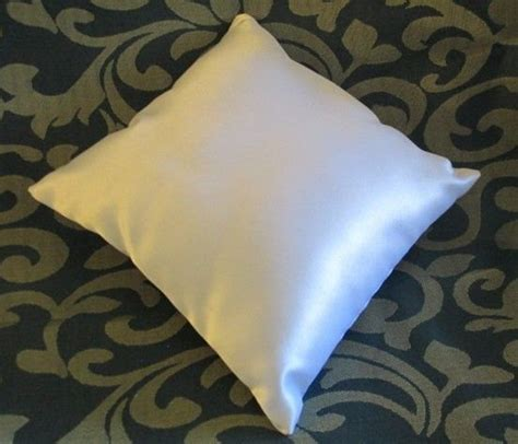 wedding white plain satin ring bearer pillow 9 x by
