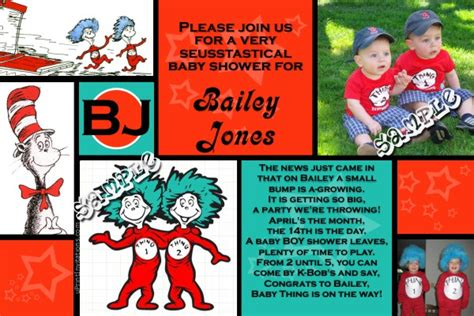 thing 1 and thing 2 baby shower invitations dr seuss thing 1 and thing 2 baby shower invitations all