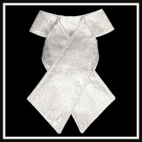 Cold Comfort White Floral Brocade Stock Tie