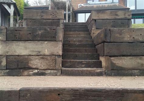 Railway Sleepers Kent by Steps And Walls From Used Jarrah Railway Sleepers