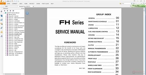 service manual 1991 mitsubishi truck service manual free download service manual automotive mitsubishi fuso 1992 95 fh service manual auto repair manual forum heavy equipment forums