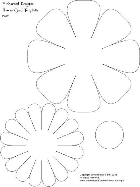 Flower Paper Craft Template - how to make a 3 dimensional flower click here for part 2