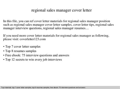 regional sales manager cover letter regional sales manager cover letter