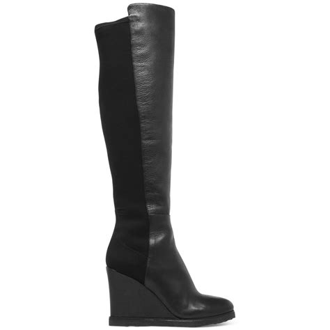 vince camuto kaelen wedge boots in black black suede