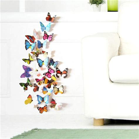 3d Wall Sticker 15968269 colorful design 3d butterfly wall sticker decor butterflies wall home decor wall